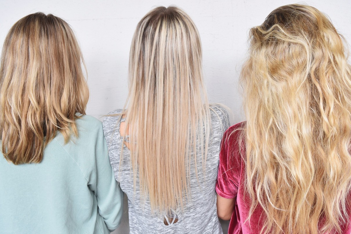 inpackning blont hår