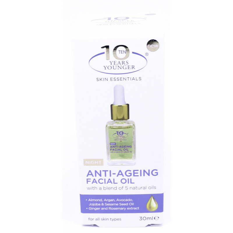 10 Years Younger Anti-Ageing Facial Night Oil