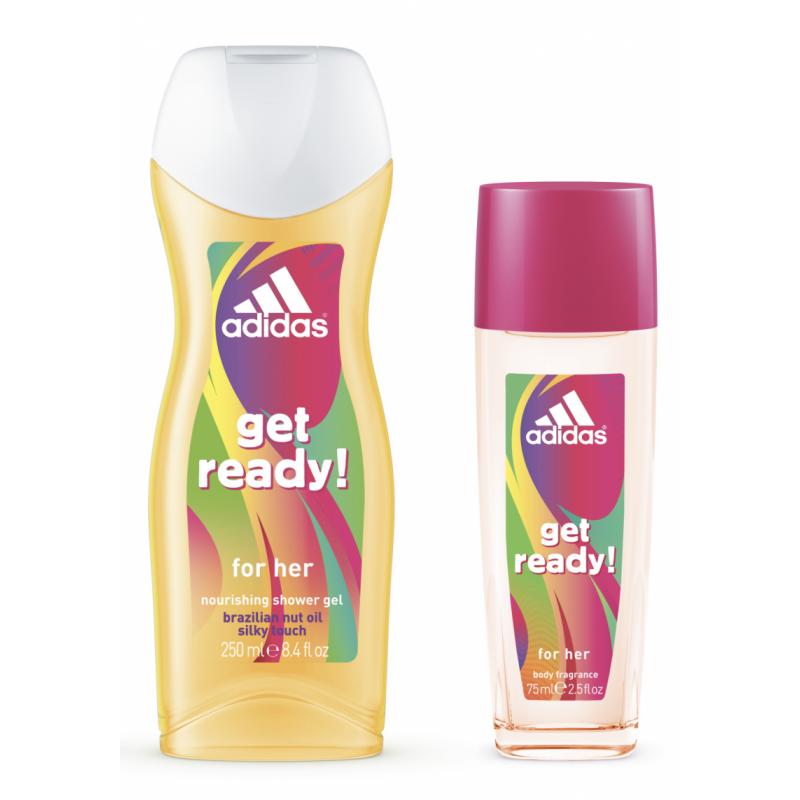 Adidas Get Ready! Perfumed Deospray & Showergel Set For Women