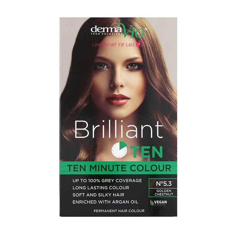 DermaV10 Brilliant Ten Hair Colour 5.3 Golden Chestnut