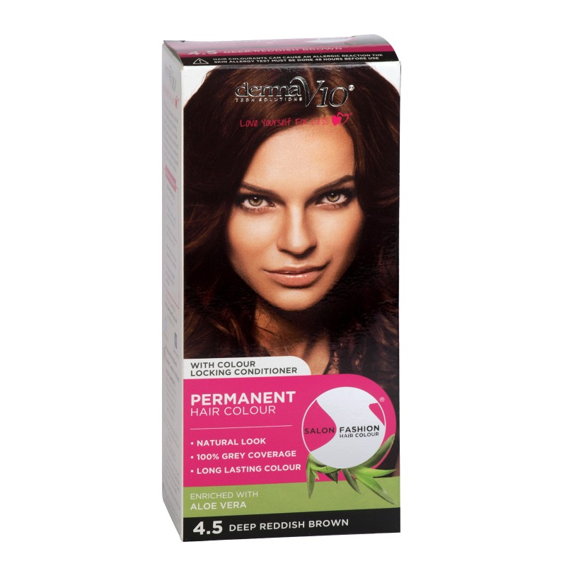 Dermav10 Salon Fashion Hair Colour Deep Reddish Brown 1 Pcs 0 95
