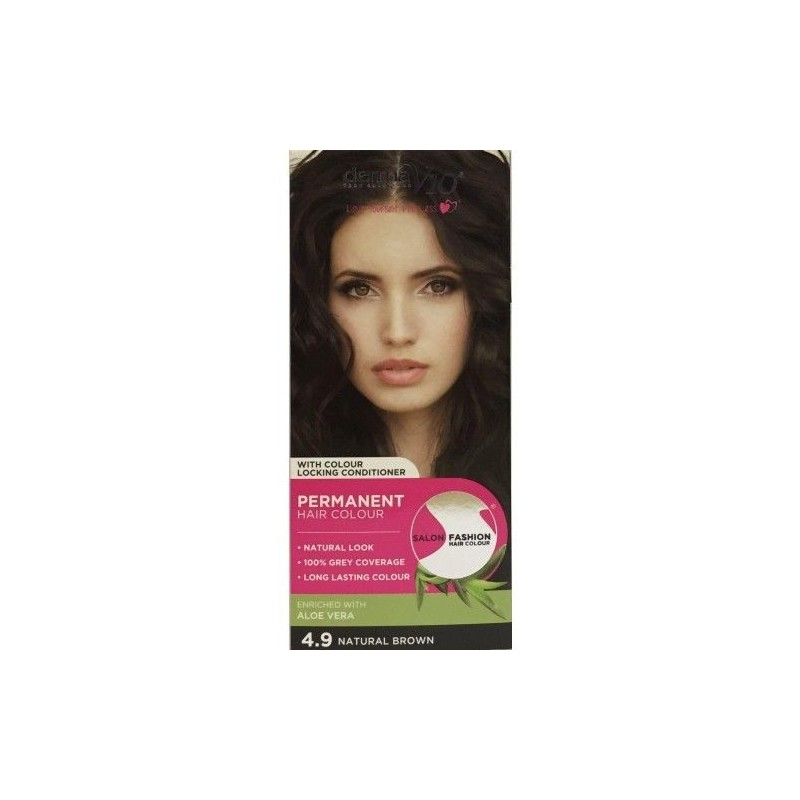 DermaV10 Salon Fashion Hair Colour Natural Brown