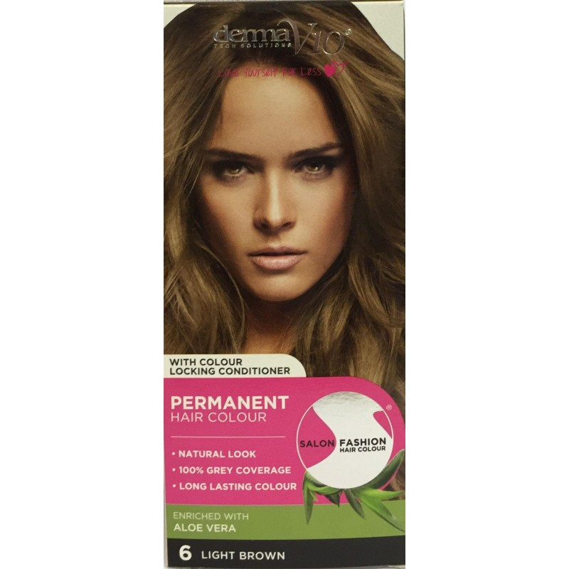 DermaV10 Salon Fashion Hair Colour Light Brown
