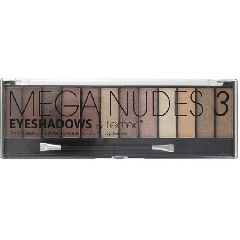 Technic Mega Nudes Eyeshadow Palette 3