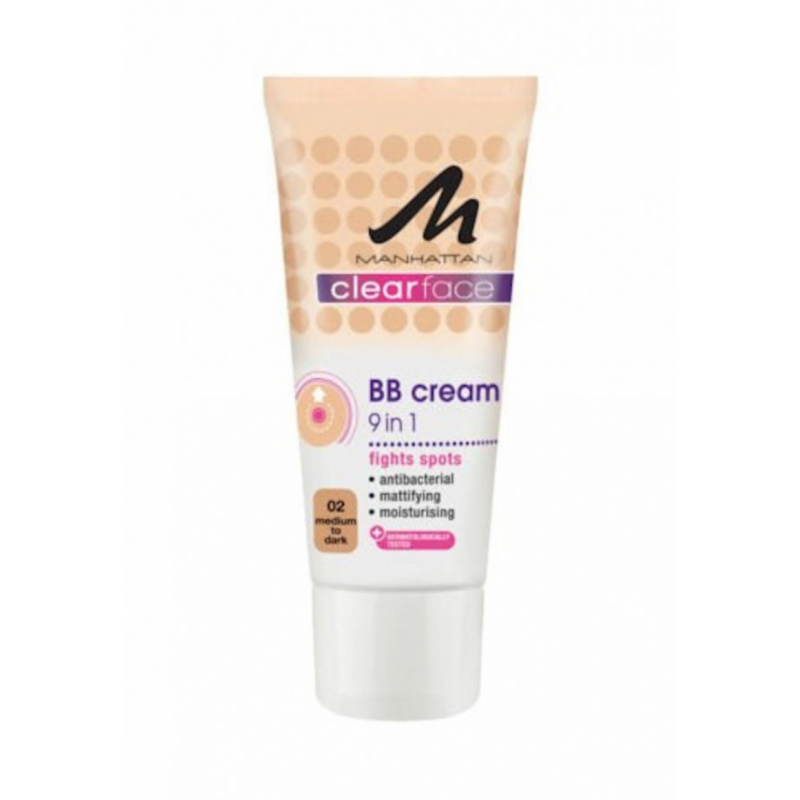Manhattan BB Cream 9 In 1 Clearface 02 Medium To Dark Skin
