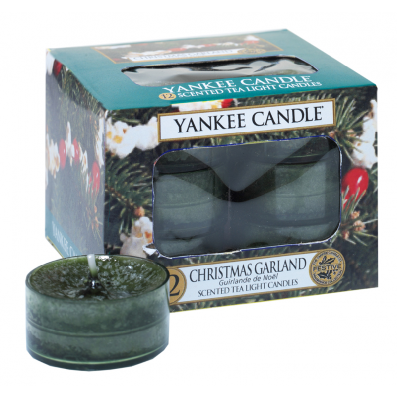 Yankee Candle Classic Tea Lights Christmas Garland Candle 12 Pcs