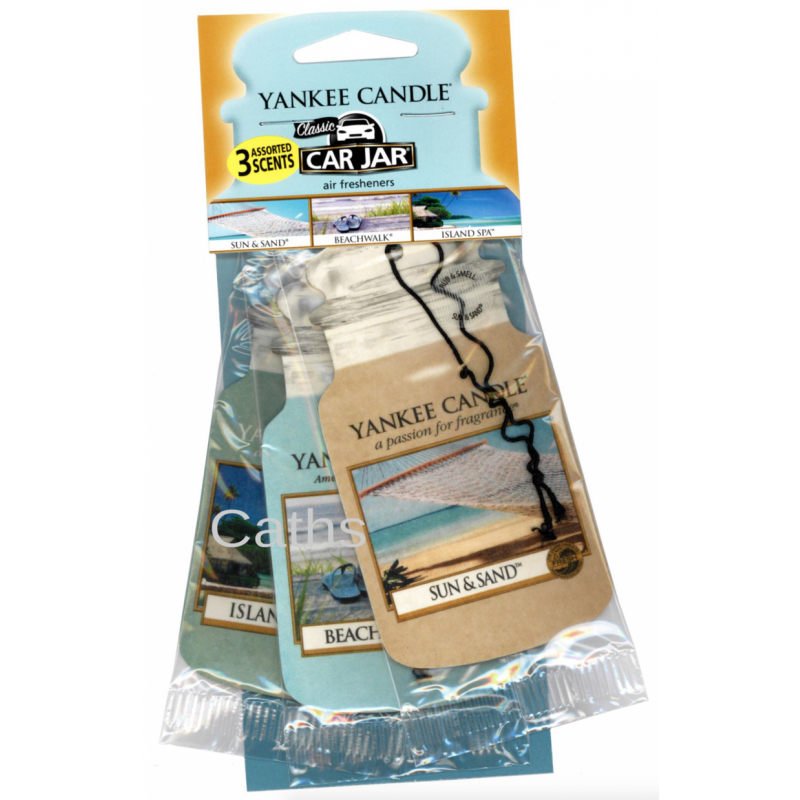 Yankee Candle  Car Jar Beach Vacation Scents Air Freshener