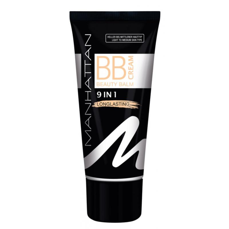 Manhattan BB Cream 9 In 1 Long Lasting Light To Medium Skin