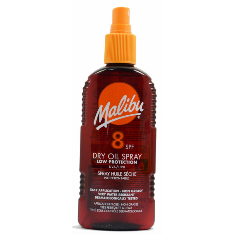 Malibu Dry Oil Spray SPF8