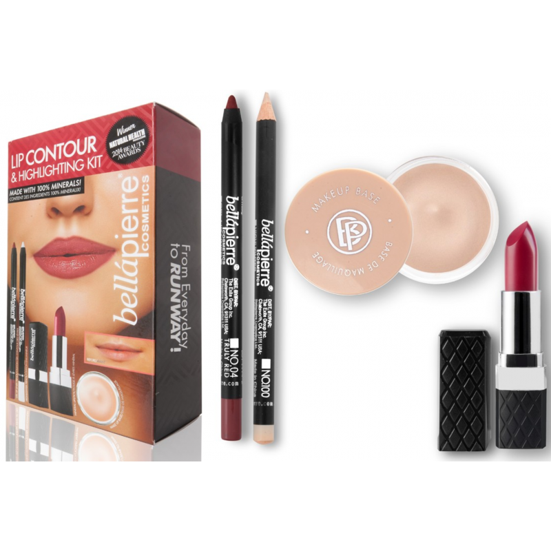 Bellápierre Cosmetics Lip Contour & Highlighting Kit Red