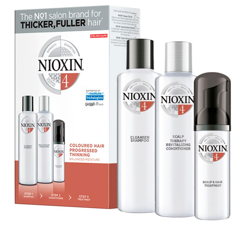 Nioxin Starter Set System 4 For Chemically Treated Noticeably Thinning Hair