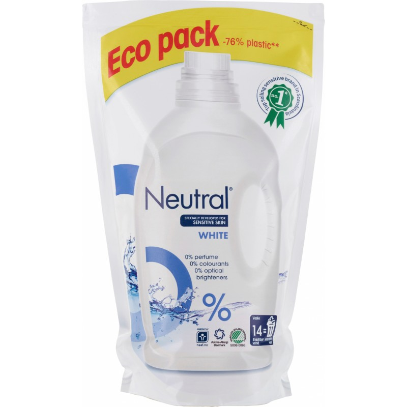 Neutral Flydende Vaskemiddel Hvid