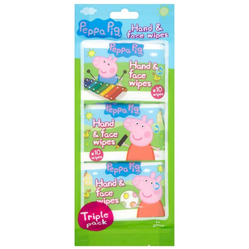 Peppa Pig Hand & Face Wipes Triple Pack