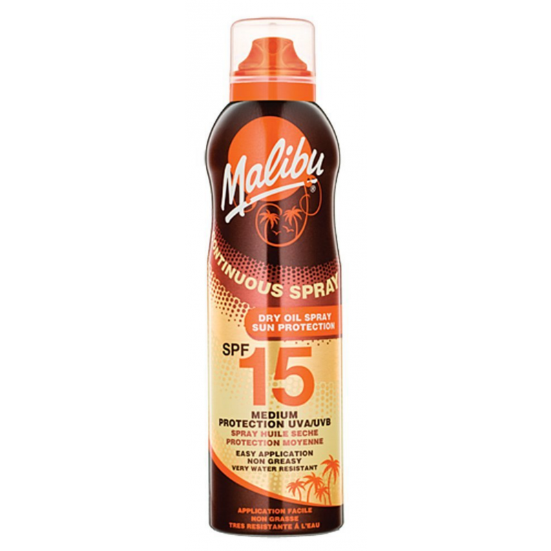 Malibu Continuous Dry Oil Spray SPF15