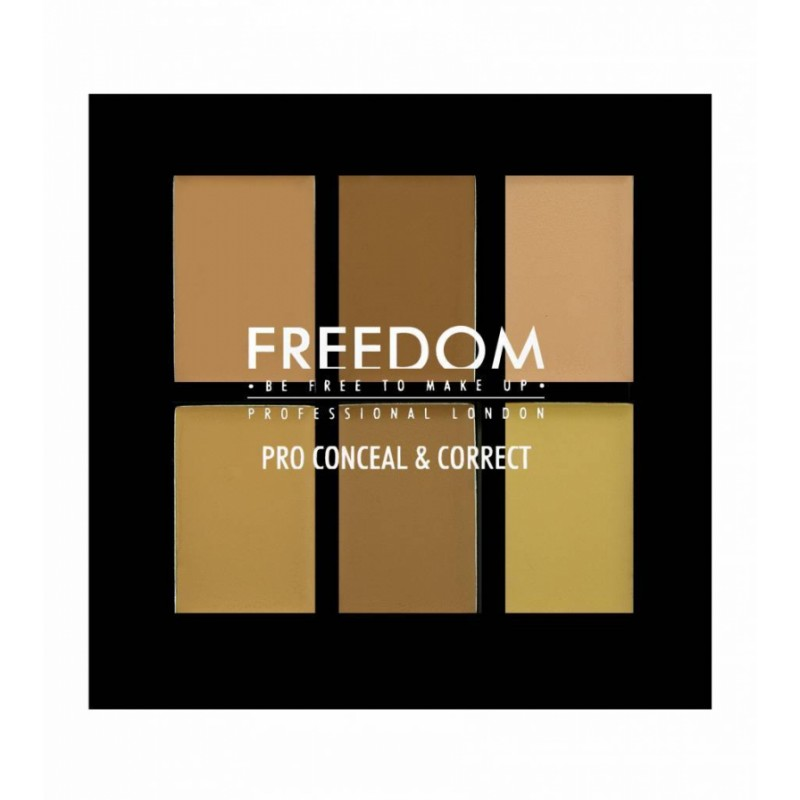 Freedom Makeup Pro Conceal & Correct Palette Color Correct Light Medium