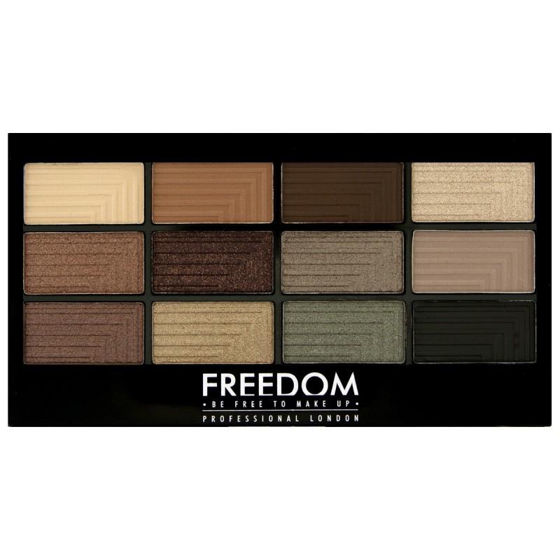 Freedom Makeup Pro Eyeshadow Palette Stunning Smokes