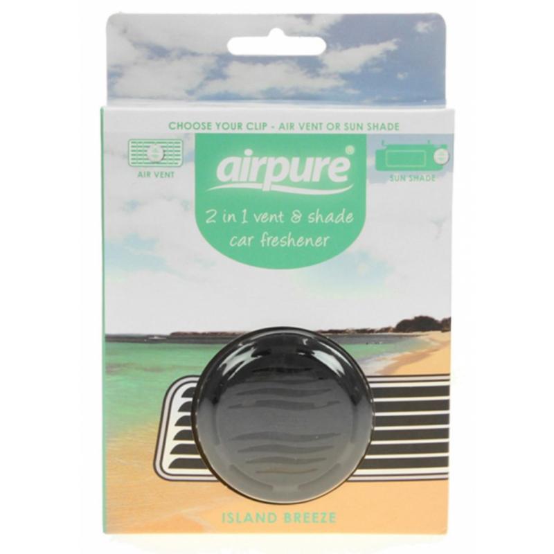Airpure 2 in 1 Vent & Shade Car Freshener Island Breeze