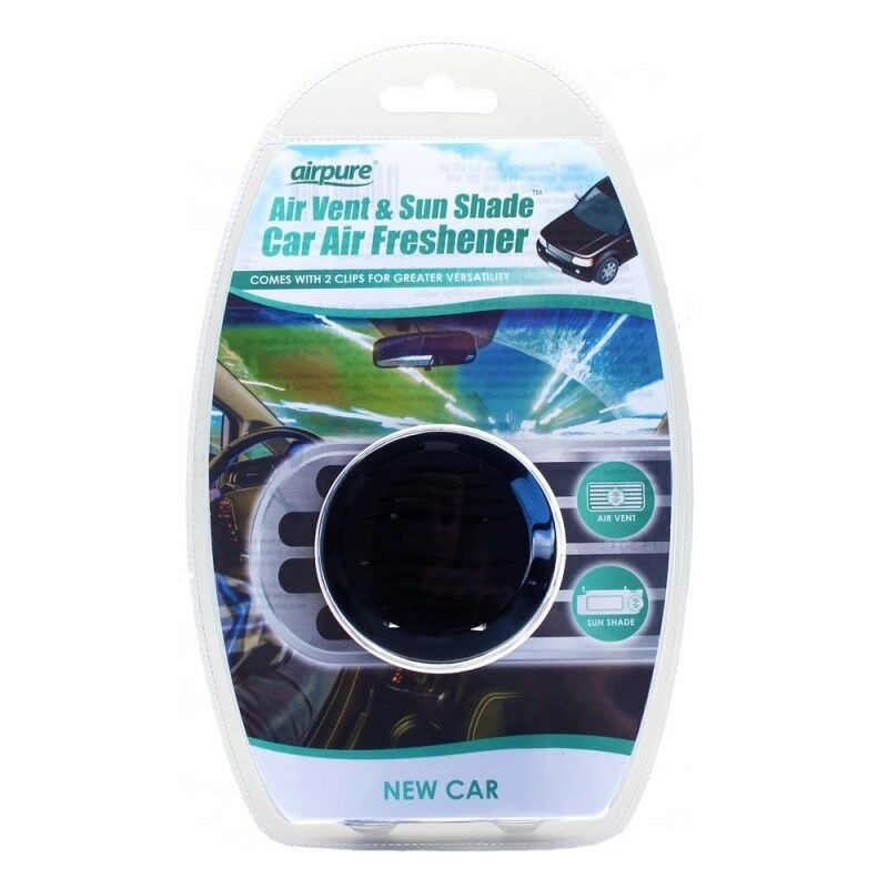 Airpure 2 in 1 Vent & Shade Car Freshener New Car