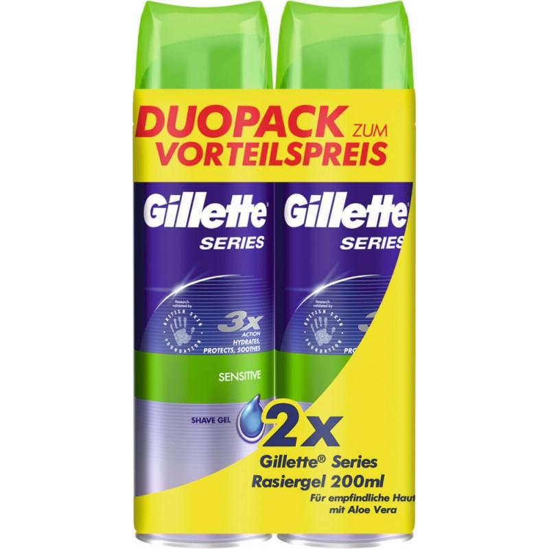 Gillette Series Shave Gel Sensitive Duo