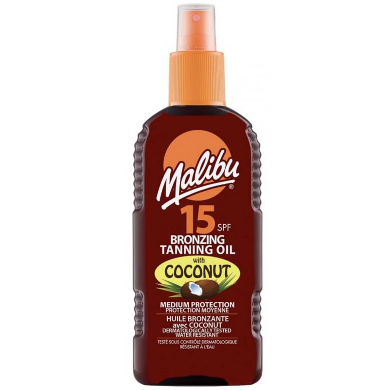 Malibu Bronzing Tanning Oil Coconut SPF15