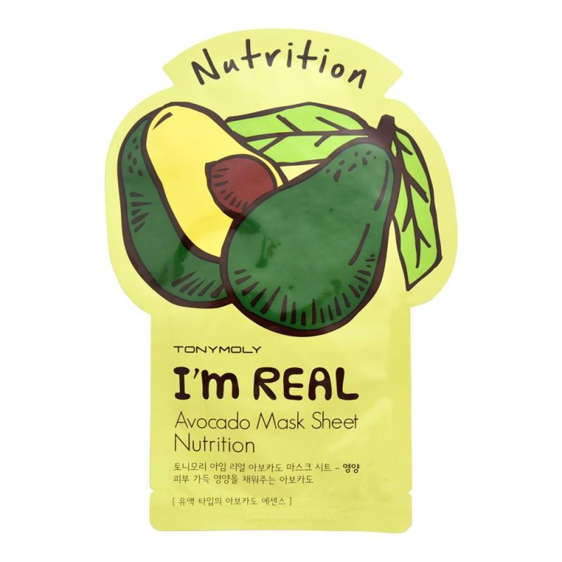 TonyMoly I'm Real Avocado Sheet Mask Nutrition