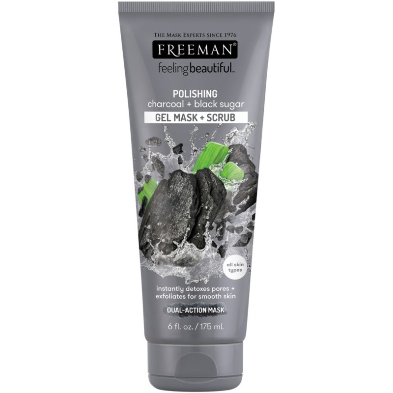 Freeman Charcoal & Black Sugar Gel Mask & Scrub