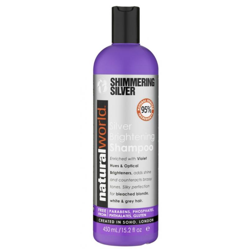 Natural World Shimmering Silver Silver Brightening Shampoo