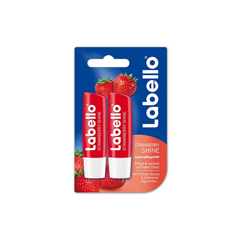 Labello Strawberry Shine Lip Balm Duo