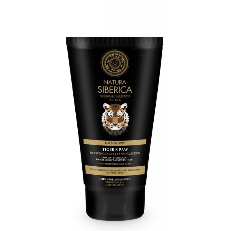 Natura Siberica Men Tiger's Paw Reviving Face Cleansing Scrub