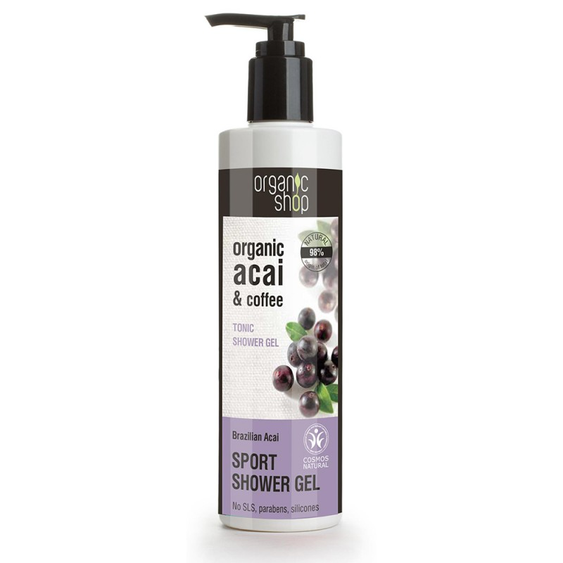 Organic Shop Organic Acai & Coffee Tonic Shower Gel