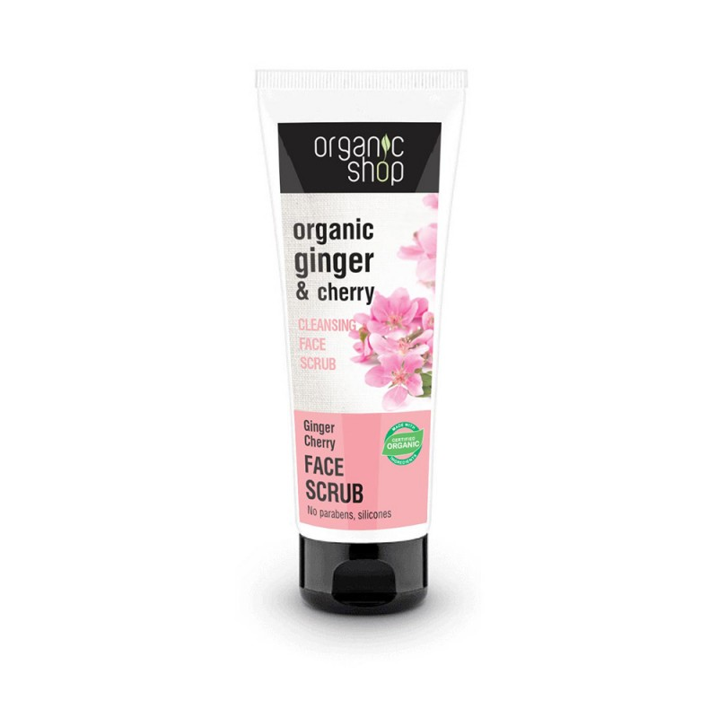 Organic Shop Organic Ginger & Cherry Cleansing Face Scrub