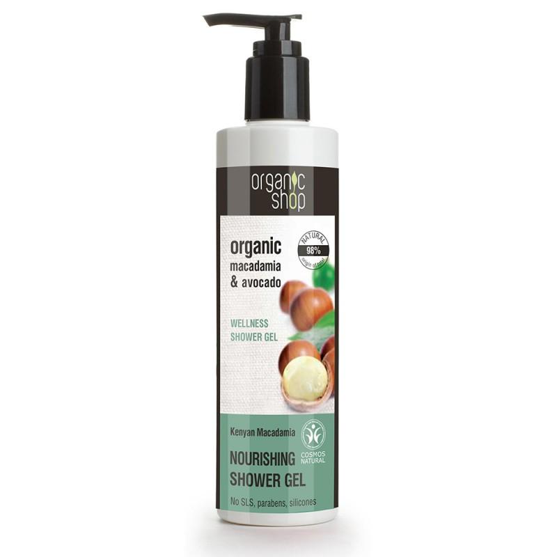 Organic Shop Organic Macadamia & Avocado Wellness Shower Gel