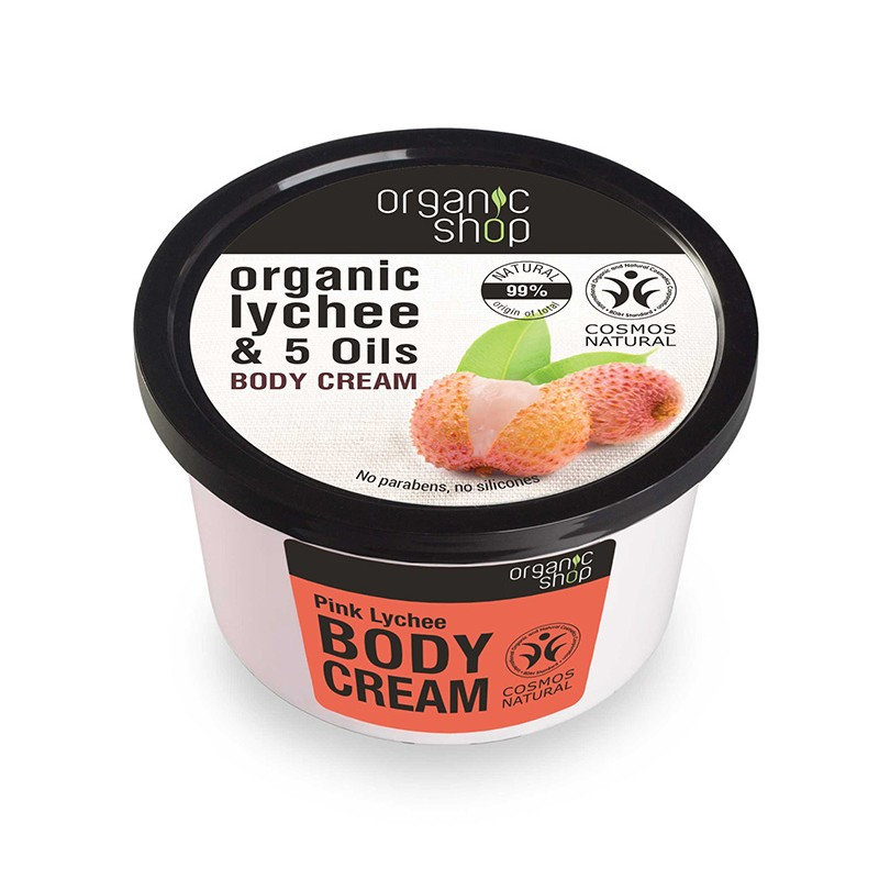 Organic Shop Organic Lychee & 5 Oils Body Cream