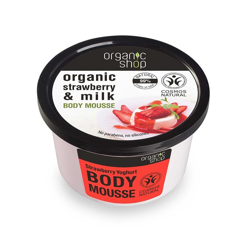 Organic Shop Organic Strawberry & Milk Body Mousse