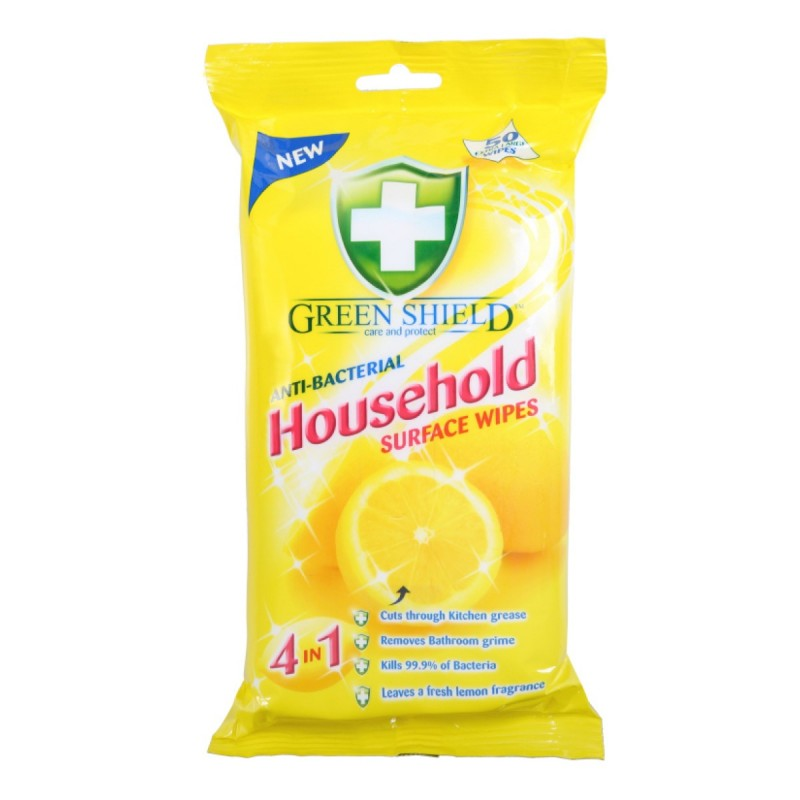 Green Shield Anti-Bacterial Household Surface Wipes