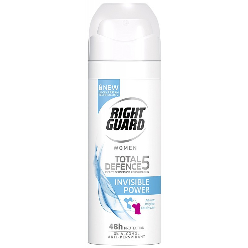 Right Guard Total Defence 5 Invisible Power Deospray