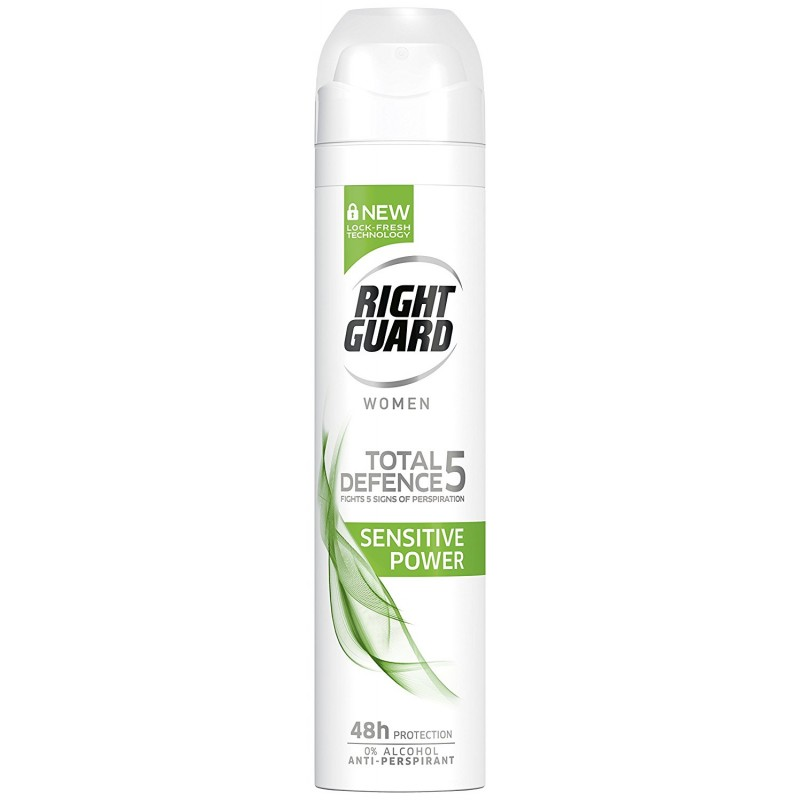 Right Guard Total Defence 5 Sensitive Power Deospray