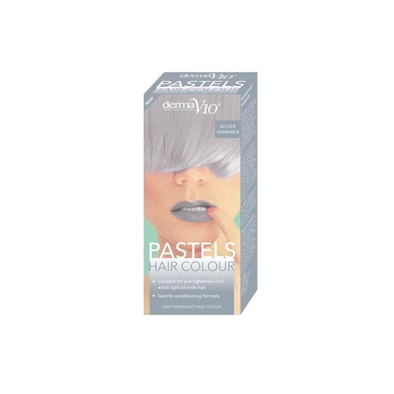 DermaV10 Pastels Hair Colour Silver Shimmer