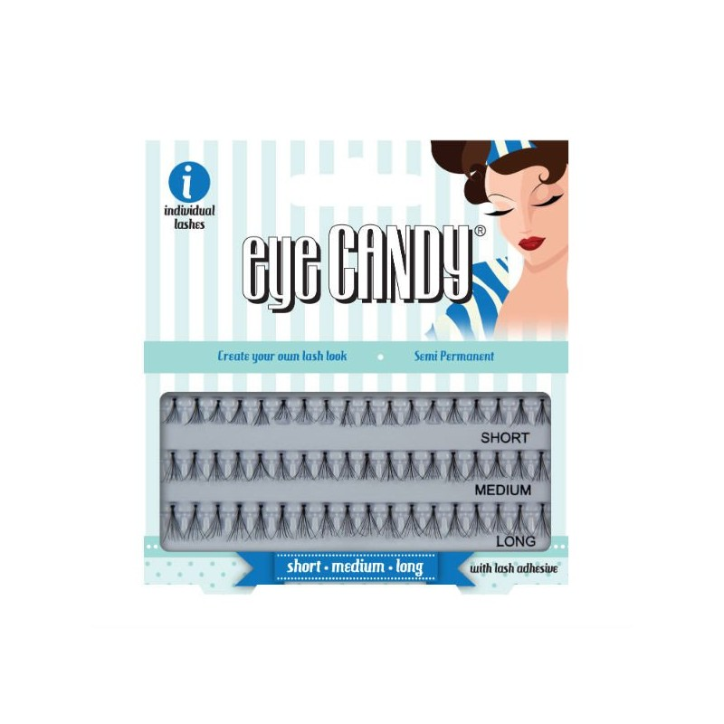 Eye Candy 50's Style Individual False Lashes Einzelnd