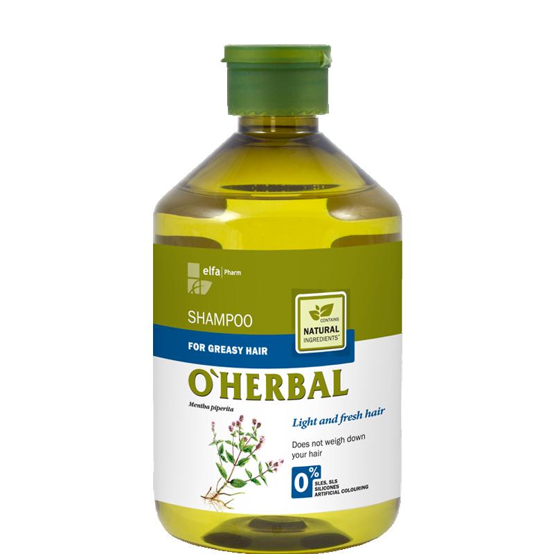 O'Herbal Greasy Hair Mint Extract Shampoo