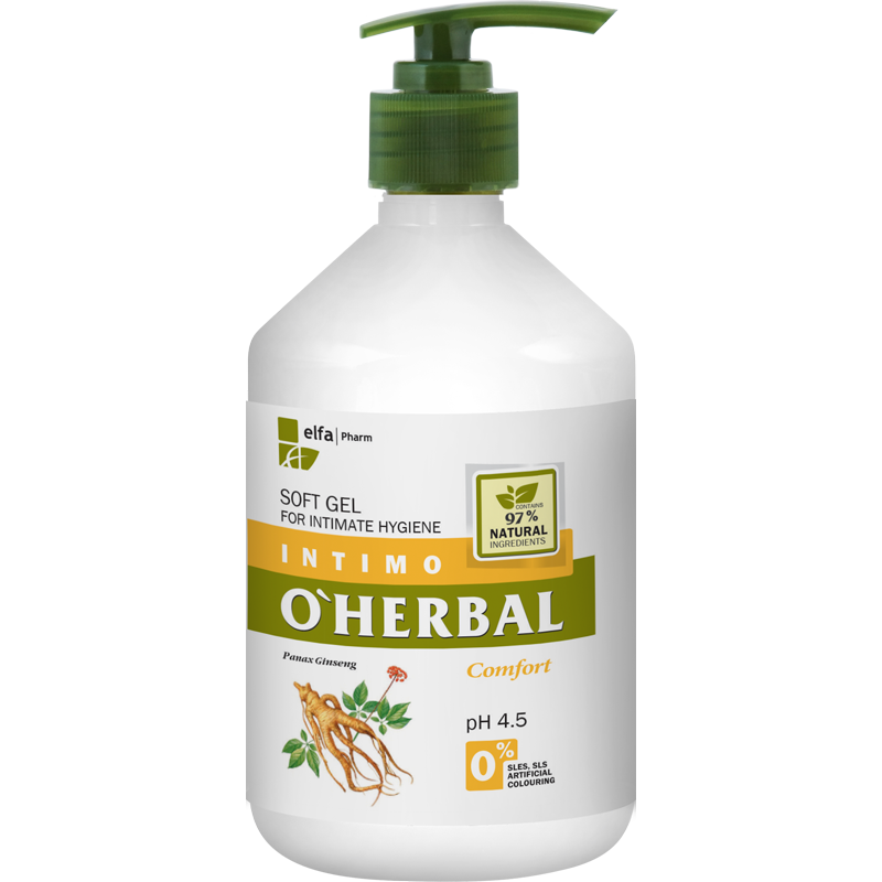O'Herbal Intimate Hygiene Comfort Soft Gel Ginseng Extract