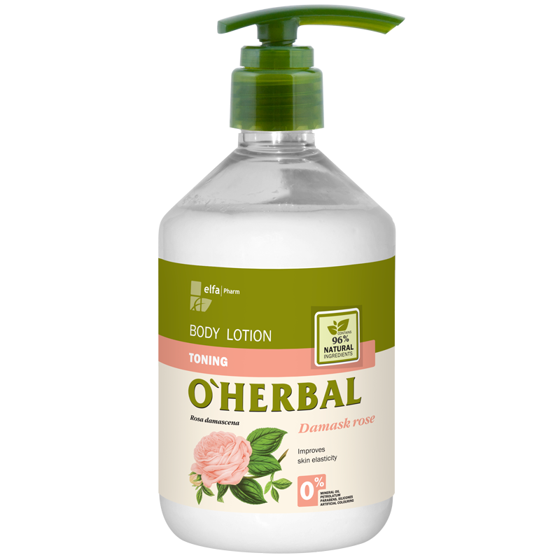 O'Herbal Toning Body Lotion Damask Rose Extract