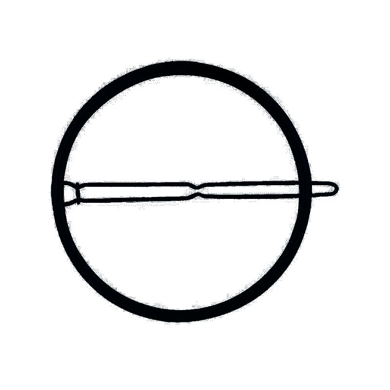 Everneed Lina Circle Hair Clip XL Black