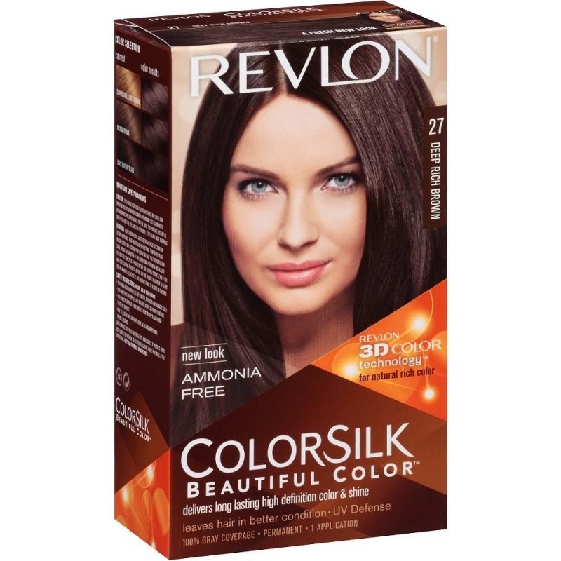 Revlon Colorsilk Permanent Haircolor 27 Deep Rich Brown