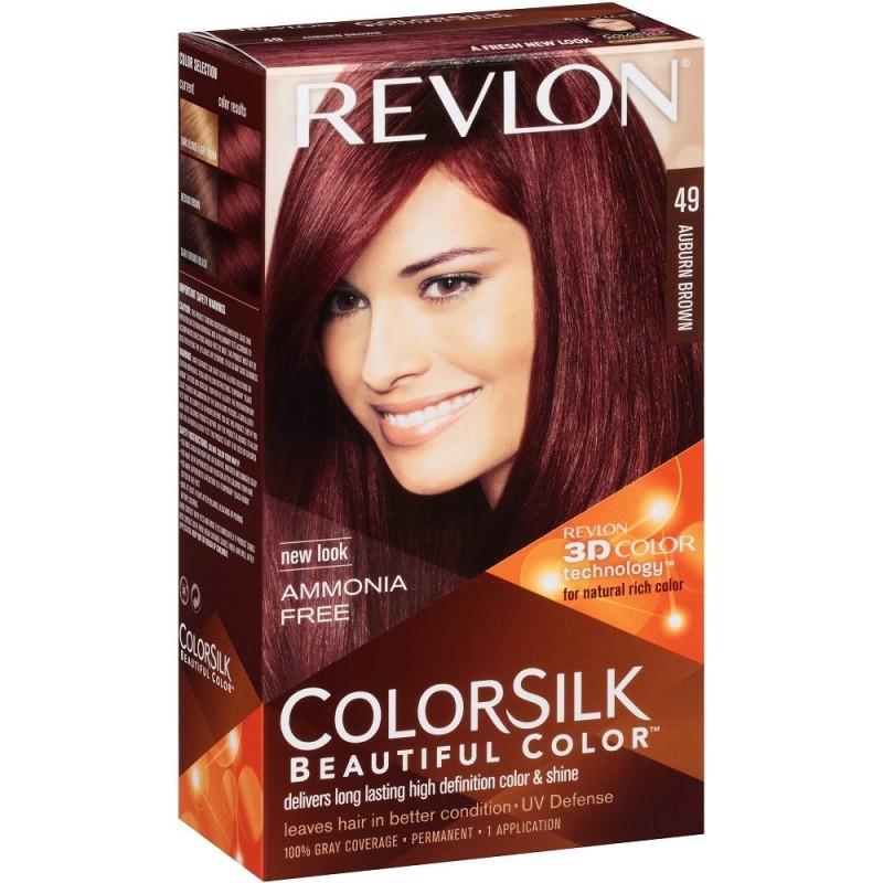 Revlon Colorsilk Permanent Haircolor 49 Auburn Brown