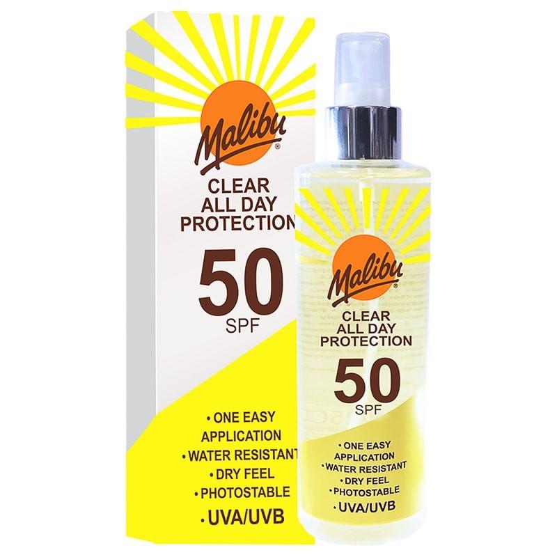 Malibu Clear All Day Sun Protection SPF50