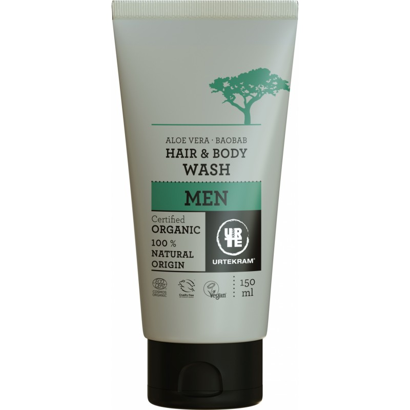 Urtekram Men Baobab Hair & Body Wash