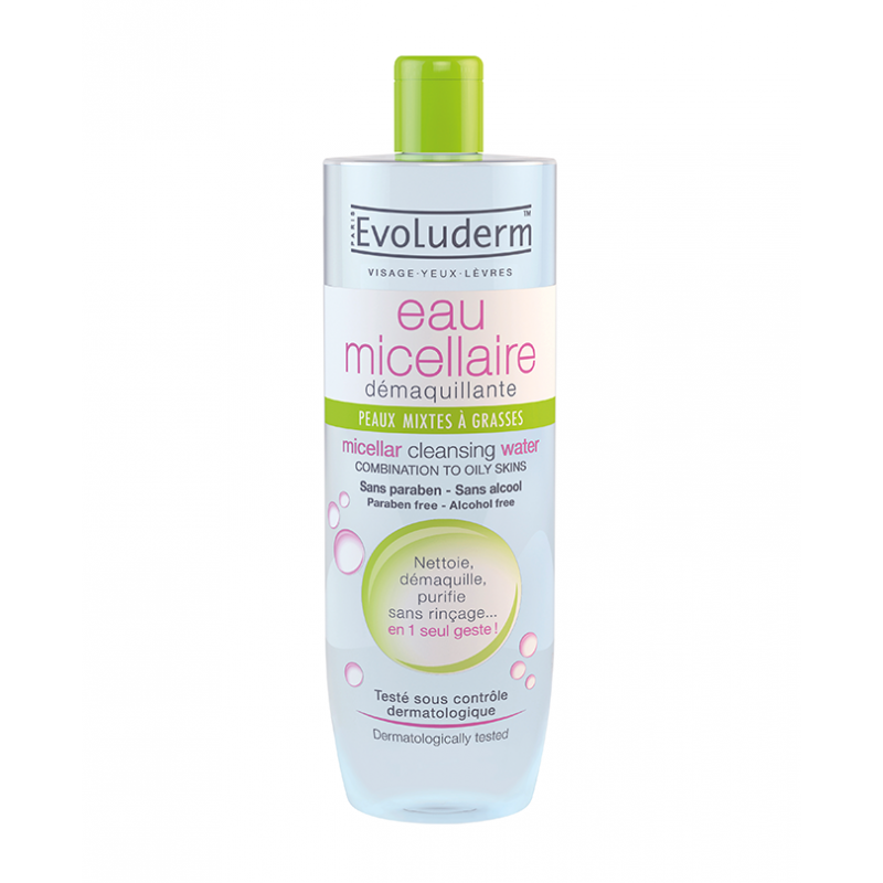 Evoluderm Micellar Cleansing Water Combination Skin
