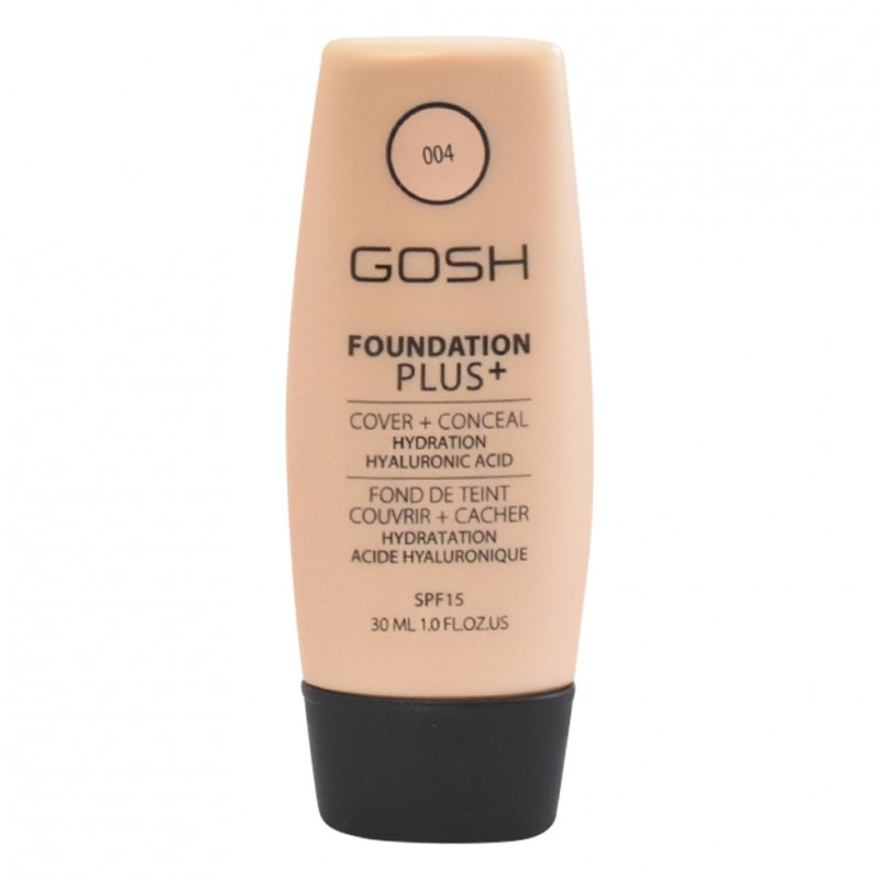 GOSH Foundation Plus Cover & Conceal 004 Natural SPF15