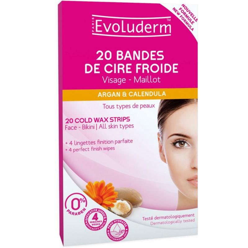 Evoluderm Shea Butter Cold Wax Strips For Face & Bikini